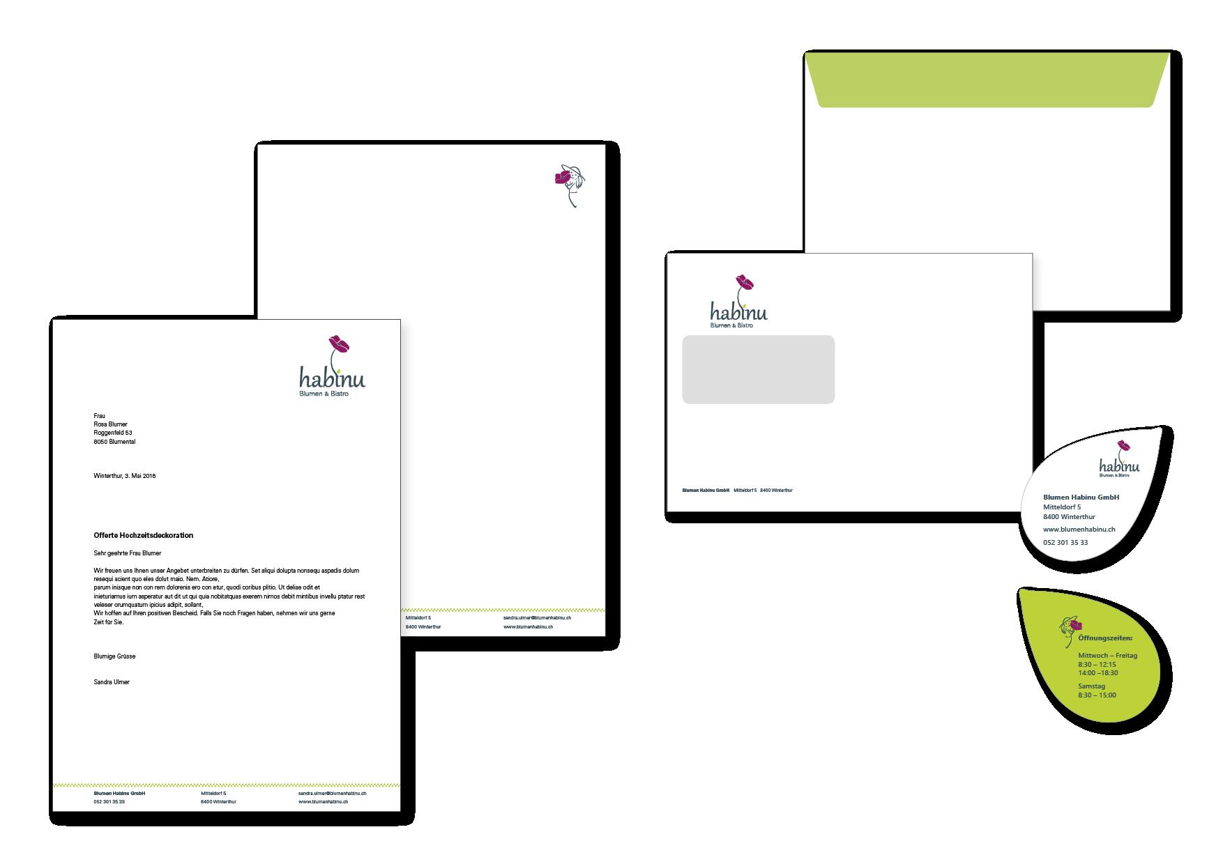 Habinu Briefpapier Webseite